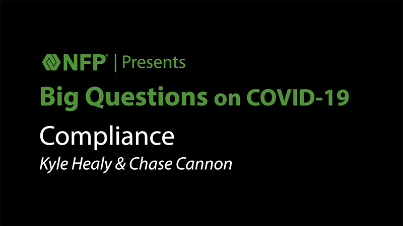 thumbnail image of Big Questions on COVID-19 - Compliance with Kyle Healy and Chase Cannon