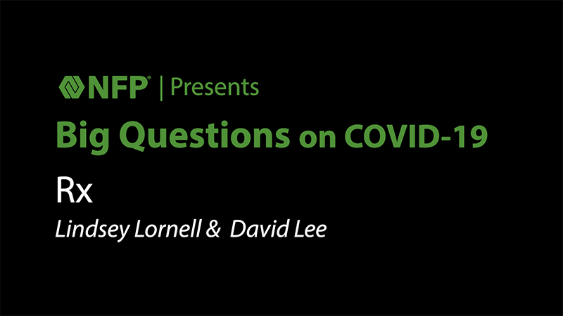 thumbnail image of Big Questions on COVID-19 - RX with Lindsey Lornell and David Lee