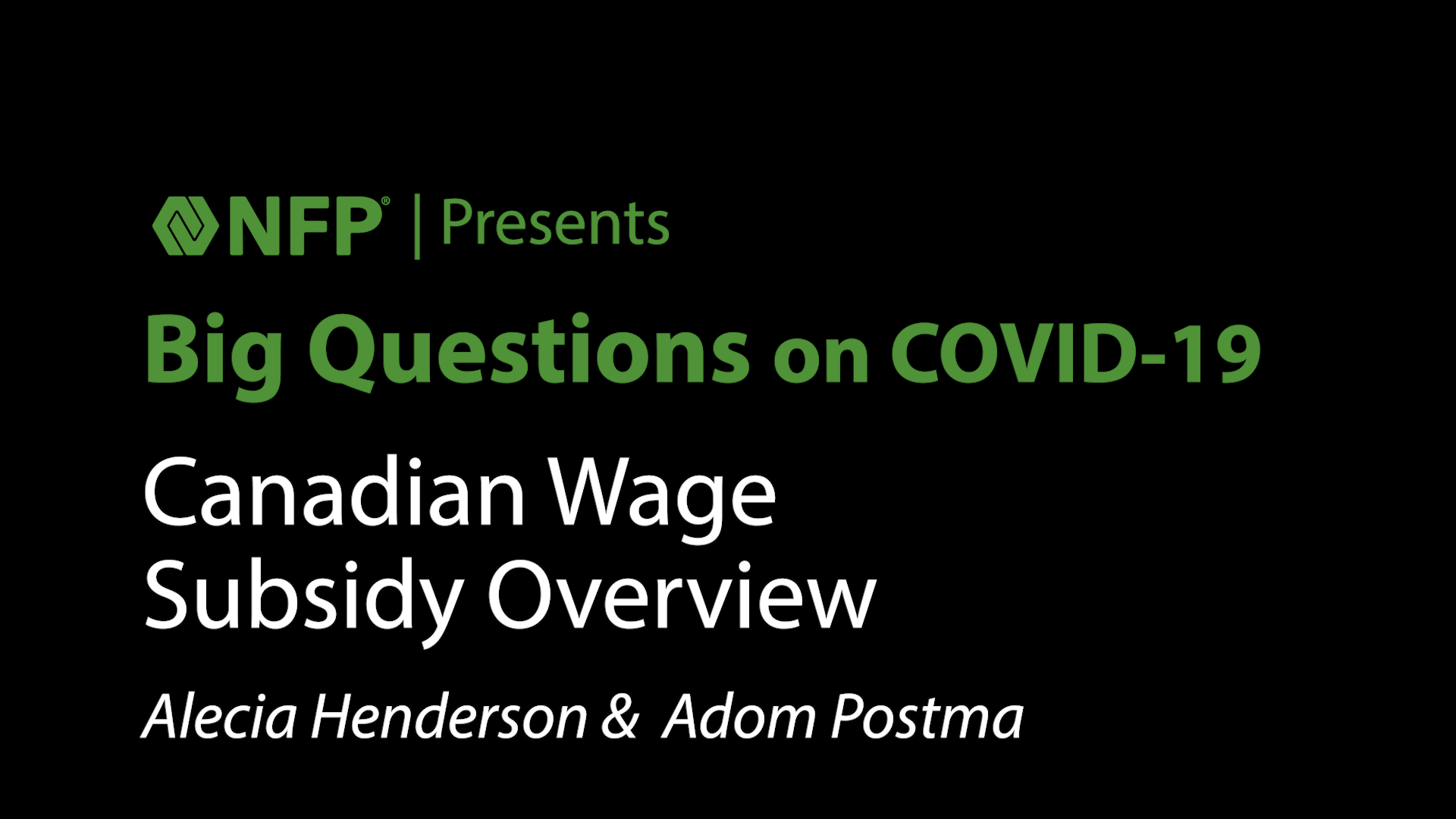 thumbnail image of Big Questions Series - Canadian Wage Subsidy Overview