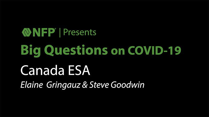 thumbnail image of Big Questions on COVID-19 - Canada ESA with Elaine Gringauz and Steve Goodwin